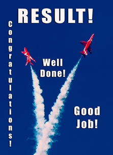 NorthLight Photo-Art Red Arrows Congratulations 3 congratulations ^red arrows^, RAF, jets, aviation, aircraft, aeroplane, airplane, plane personalised online greeting card