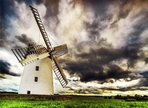NorthLight Photo-Art Evening at Ballycopeland Windmill  photography  andbc, windmill, Millisle, Ards, Bangor, Donaghadee, Ards Peninsula, inspiration, happy, joy, optimistic, peaceful, tranquil, serene, warm, dramatic, sky personalised online greeting card