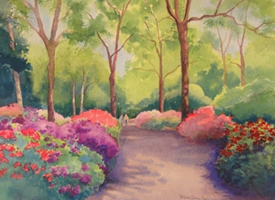 Tessa Spanton Artist Isabella Plantation, Richmond Park Art general personalised online greeting card