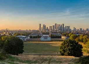 greenwich vista sunset landscape landmark tourist attraction park london skyline photography personalised online greeting card