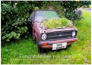 Congratulations Car Vehicle Drive Pass Test Driving Congratulations personalised online greeting card