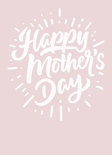 Happy Mother's Day Pink Modern Card