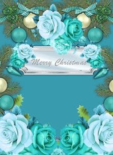 Her Nibs  Christmas Roses  personalised online greeting card