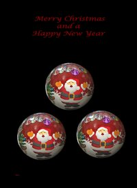 Christmas Decorations Baubles Santa Black Red white Happy  z%a personalised online greeting card