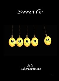 christmas Decorations Black Yellow Happy  Funny  z%a personalised online greeting card