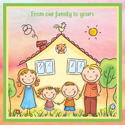 general GENERAL FAMILY friends personalised online greeting card