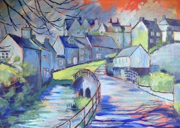art Goosebridge St. John's Street Malmesbury painting artist abstract art card personalised online greeting card