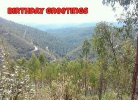 Birthday Nature, Mountains personalised online greeting card