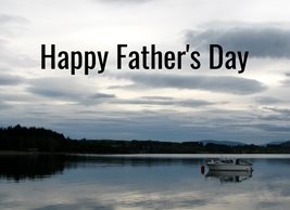 Debbie Daylights Father's Day Lake fathers Father lakes boats clouds for-him personalised online greeting card