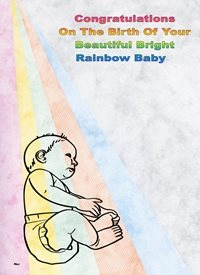 new baby Rainbow Baby Pink Blue Yellow Orange Green Grey Happy  personalised online greeting card