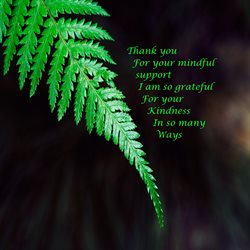 thank for-her,green, leave, mindful, friendship personalised online greeting card