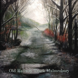 Art The Old Railway Track, Malmesbury painting art snow personalised online greeting card