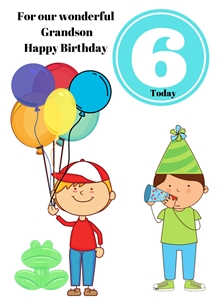 Balloons,Boys,Frog, personalised online greeting card