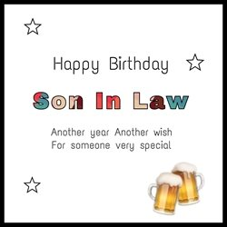 Birthday Son-in-law,  love ,  personalised online greeting card
