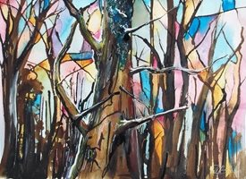 Stained Glass Trees: Enchanted Wood