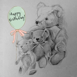 Birthday Birthday Teddies personalised online greeting card