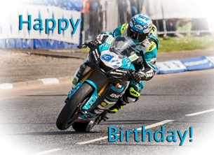 birthday   for-him, motorcycle, motorbike, bike, racer, racing, photograph personalised online greeting card