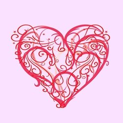 Valentines Heart Love pink personalised online greeting card