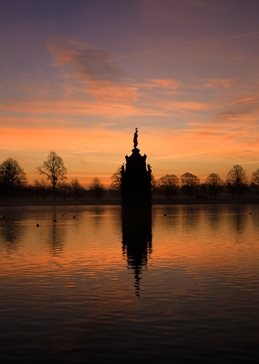 Photography Diana Fountain, Bushy park, Sunrise personalised online greeting card