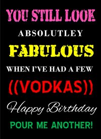 Birthday Humour funny vodka  z%a personalised online greeting card