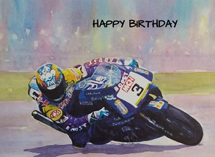 Birthday motorbikes, motorcycles, bikes, racing, for him personalised online greeting card