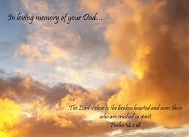 Sympathy funeral death deceased passed away dies heaven God peace love loving memory Jesus Dad Father z%a personalised online greeting card