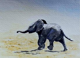 art artwork elephant animals wildlife for-him for-her for-children personalised online greeting card