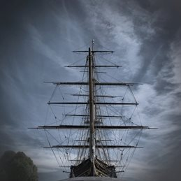 art cuttysark boat greenwich landmark famous tallship ship london moody cutty sark  personalised online greeting card