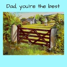 art fathers farm sheep personalised online greeting card