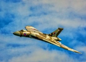 Photography for-him, son, brother, father, father's day, vulcan, bomber, RAF, jet, airplane, aeroplane, plane, classic, heritage,  personalised online greeting card