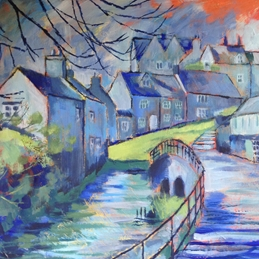 art Goosebridge St. John's Street Malmesbury fine art painting personalised online greeting card