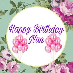 PinkWave Designs Happy birthday Nan birthday Occasion, happy personalised online greeting card