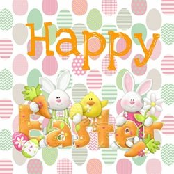 PinkWave Designs Easter time Easter Happy, occasion personalised online greeting card