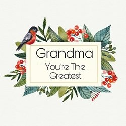 BP Custom Prints  Grandma birthday grandma personalised online greeting card