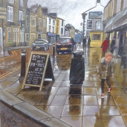Dancing in the rain' Clitheroe