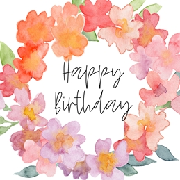 Birthday Birthday floral personalised online greeting card