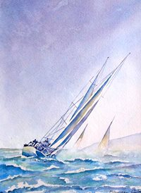 Art boats water sea seascapes z%a personalised online greeting card