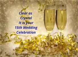 anniversary for-him, for-her, crystal glasses, champagne, celebrate, joy, uplifting personalised online greeting card