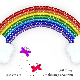 #Stay Safe Rainbow Notelet Card