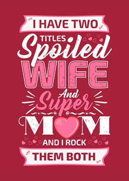 Mother's Day - Mum and Wife Rocks