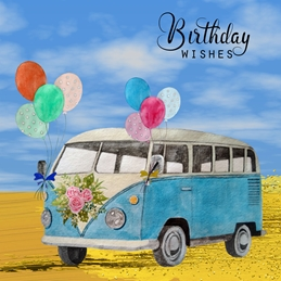 Birthday Wishes Campervan for her/him