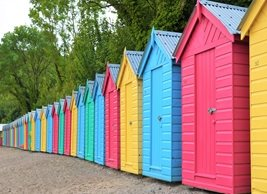 Iloveyoustills Colourful Beach Hut's Photography Beach