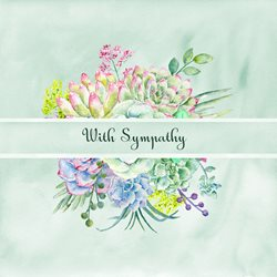 sympathy Floral, Succulents z%a personalised online greeting card