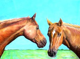 art artwork horse animals pets  for-him for-her personalised online greeting card