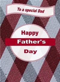 Her Nibs  Father's Day  fathers shapes diamonds circles dark red grey happy  personalised online greeting card