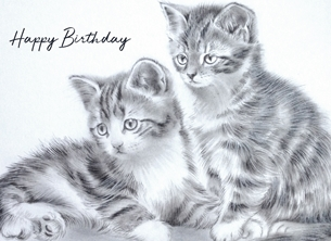Birthday kittens birthday personalised online greeting card