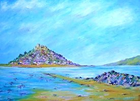 General artwork Cornwall seascape beach summer for-her for-him personalised online greeting card