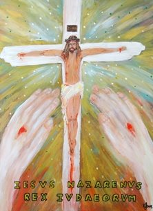 Easter Jesus Christ, God, Christian art, catholic, Christianity, Religion, Religious, Spiritual, Crucifixion, Easter, Church, Cross, Messiah, Lord  prophetic,  Biblical art, church, faith, for him, for her, prayerful, memorial, sympathy card, baptism, Christening, confirmation, man, male personalised online greeting card