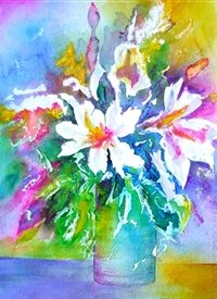 General artwork flowers for-her personalised online greeting card