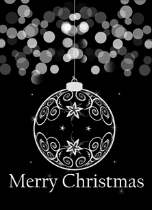 Black and White Christmas Card
